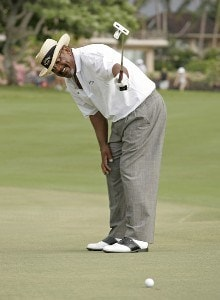 Jim Thorpe leaves a birdie putt just short on #16 during the second round of the 2007 MasterCard Championship at Hualalai held at Hualalai Golf Club in Ka'upulehu-Kona, Hawaii, on January 20, 2007. Photo by: Chris Condon/PGA TOURPhoto by: Chris Condon/PGA TOUR