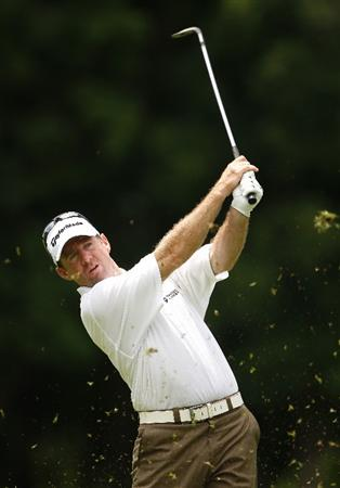 COOLUM BEACH, AUSTRALIA - DECEMBER 04: Rod Pampling of Australia plays a shot during day one of the Australian PGA Championship at the Hyatt Regency Resort on December 4, 2008 at Coolum Beach, Australia.  (Photo by Cameron Spencer/Getty Images)