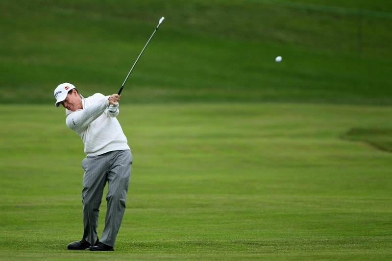 PEBBLE BEACH, CA - JUNE 18:  Tom Watson hits a shot on second hole during the second round of the 110th U.S. Open at Pebble Beach Golf Links on June 18, 2010 in Pebble Beach, California.  (Photo by Donald Miralle/Getty Images)