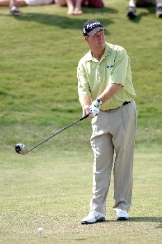 Glen Day sets to tee off during Round One of The Fedex St. Jude Classic at TPC @ Southwind in Memphis, Tennessee on May 26, 2005.Photo by Joe Murphy/WireImage.com
