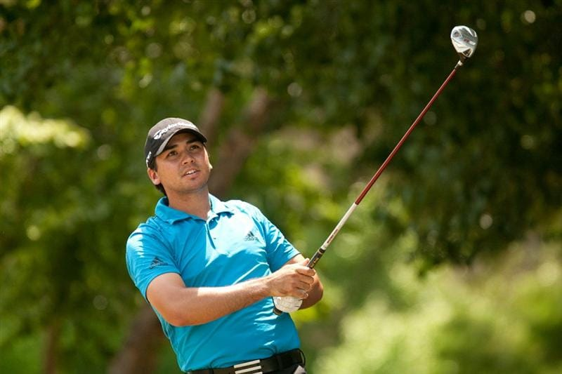 IRVING, TX - MAY 21: Jason Day of Australia follows through on a tee shot during the second round of the HP Byron Nelson Championship at TPC Four Seasons Resort Las Colinas on May 21, 2010 in Irving, Texas. (Photo by Darren Carroll/Getty Images)