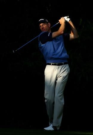 CHARLOTTE, NC - APRIL 30:  Jim Furyk tee's off at the 12th during the second round of the Quail Hollow Championship at Quail Hollow Country Club on April 30, 2010 in Charlotte, North Carolina.  (Photo by Richard Heathcote/Getty Images)