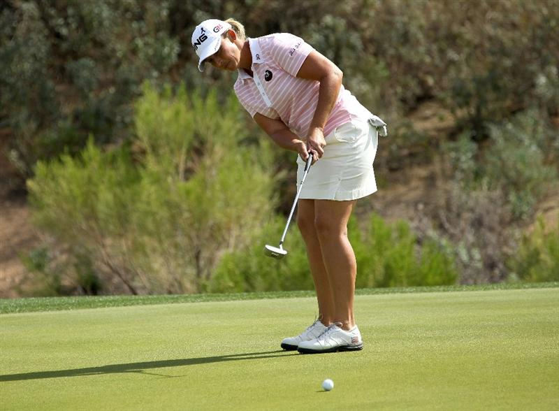 PHOENIX, AZ - MARCH 19:  Angela Stanford putts on the sixth hole during the second round of the RR Donnelley LPGA Founders Cup at Wildfire Golf Club on March 19, 2011 in Phoenix, Arizona.  (Photo by Stephen Dunn/Getty Images)