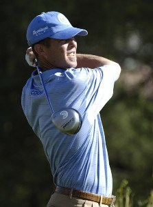 Jonathan Kaye in action during the first round of the FBR Open  at the TPC Players Course  on Photo by Marc Feldman/WireImage.com