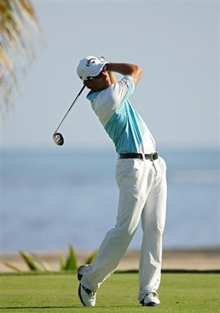 RIO GRANDE, PR - MARCH 15:  James Nitties of Australia hits his drive on the 13th hole during the continuation of the third round of the Puerto Rico Open presented by Banco Popular at Trump International Golf Club held on March 15, 2010 in Rio Grande, Puerto Rico.  (Photo by Michael Cohen/Getty Images)