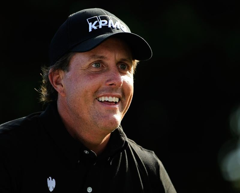 DORAL, FL - MARCH 11:  Phil Mickelson laughs on the range during the final day of practice for the World Golf Championships-CA Championship at the Doral Golf Resort & Spa on March 11, 2009 in Miami, Florida.  (Photo by Sam Greenwood/Getty Images)