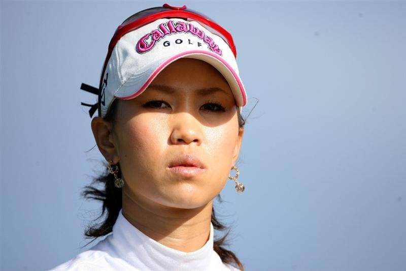 KAHUKU, HI - FEBRUARY 12:  Momoko Ueda of Japan is  pictured on the 7th hole during the first round of the SBS Open on February 12, 2009  at the Turtle Bay Resort in Kahuku, Hawaii.  (Photo by Andy Lyons/Getty Images)