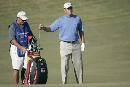 Jeff Gove during the final round of the Nationwide Tour Championship held  on the Senator course at Capitol Hill GC in Prattville, Alabama on Sunday, October 30, 2005.Photo by Sam Greenwood/WireImage.com