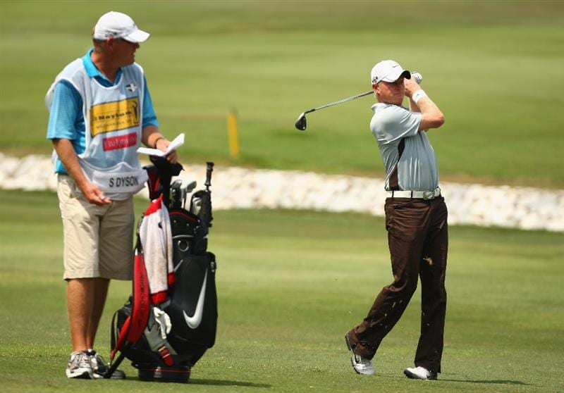 KUALA LUMPUR, MALAYSIA - FEBRUARY 14:  Simon Dyson of England in action during the 3rd round of the 2009 Maybank Malaysian Open at Saujana Golf and Country Club on February 14, 2009 in Kuala Lumpur, Malaysia.  (Photo by Ian Walton/Getty Images)