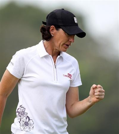 SINGAPORE - FEBRUARY 28:  Juli Inkster of the USA during the final round of the HSBC Women's Champions at the Tanah Merah Country Club on February 28, 2010 in Singapore.  (Photo by Ross Kinnaird/Getty Images)