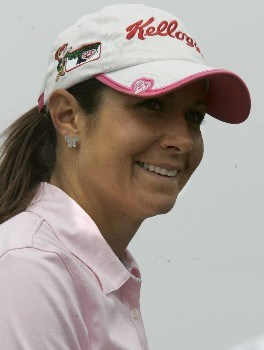 Laura Diaz of Amelia Island, Florida, smiles during the first round of the LPGA 2005 Michelob Ultra Open at Kingsmill River Course in Williamsburg, Virginia.Photo by Jim Rogash/WireImage.com