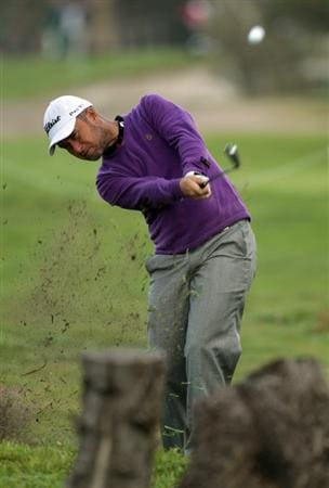 MALAGA, SPAIN - MARCH 24:  Mark Foster of England on the par four 15th hole during the first round of the Open de Andalucia at the Parador de Malaga Golf Course on March 24, 2011 in Malaga, Spain.  (Photo by Ross Kinnaird/Getty Images)