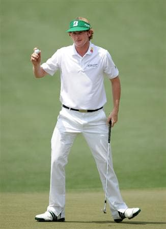 AUGUSTA, GA - APRIL 09:  Brandt Snedeker celebrates after making eagle on the second hole during the third round of the 2011 Masters Tournament at Augusta National Golf Club on April 9, 2011 in Augusta, Georgia.  (Photo by Harry How/Getty Images)