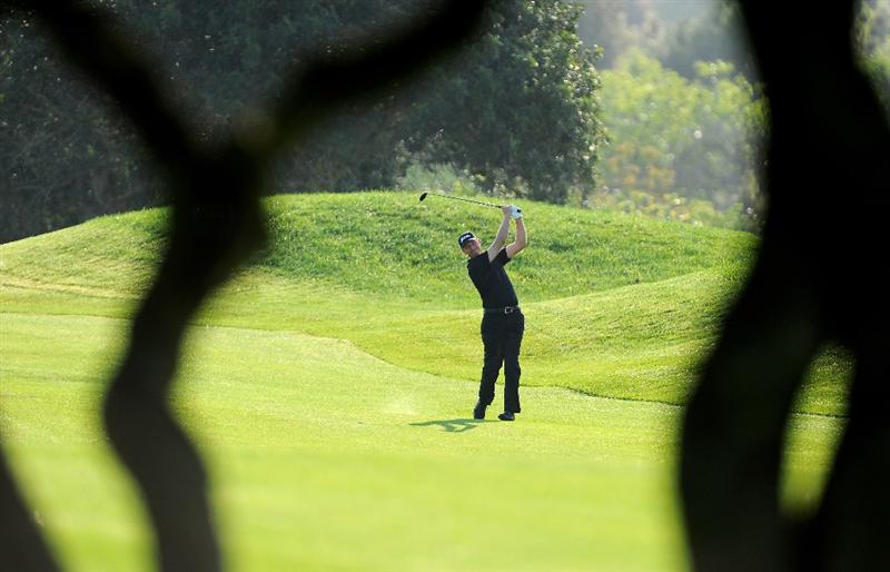 MALLORCA, SPAIN - MAY 13:  Soren Hansen of Denmark plays his approach shot 10th hole during the first round of the Open Cala Millor Mallorca at Pula golf club on May 13, 2010 in Mallorca, Spain.  (Photo by Stuart Franklin/Getty Images)