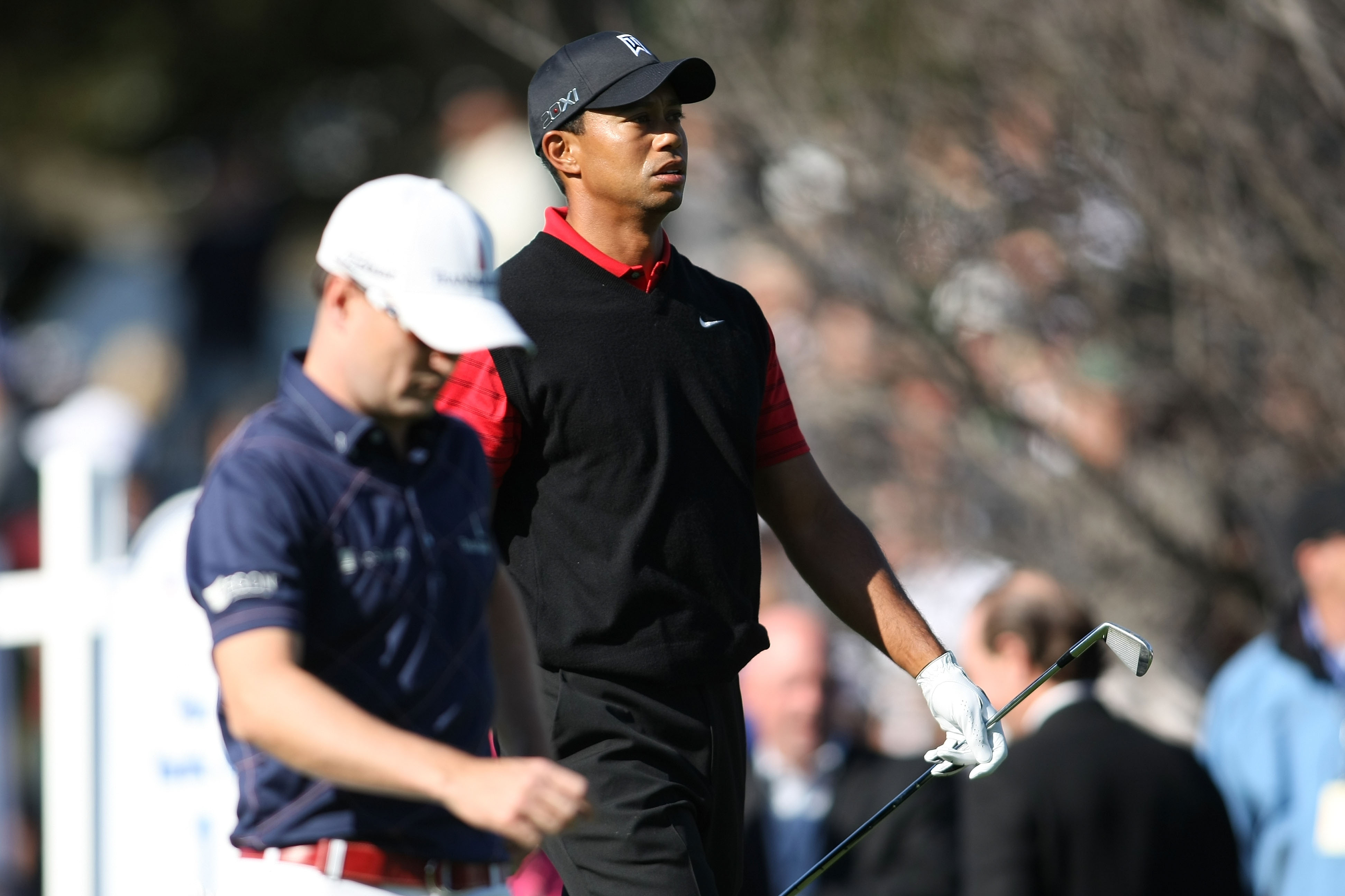 Zach Johnson and Tiger Woods
