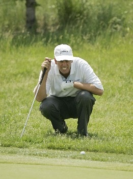 Nationwide Tour-2005 LaSalle Bank  Open-First Round Doug Garwood on the 10th hole during the first round of the LaSalle Bank  Open being held at the The Glen Club in Glenview, Illinois on June 9, 2005.Photo by Mike Ehrmann/WireImage.com