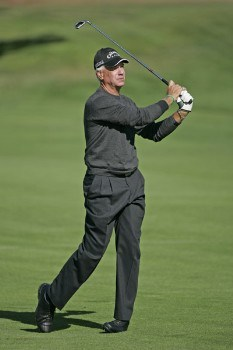 Bruce Fleisher on the first hole during the first round of the Charles Schwab Cup Championship - Thursday October 27, 2005 at Sonoma Golf Club - Sonoma, California.Photo by Chris Condon/PGA TOUR/WireImage.com