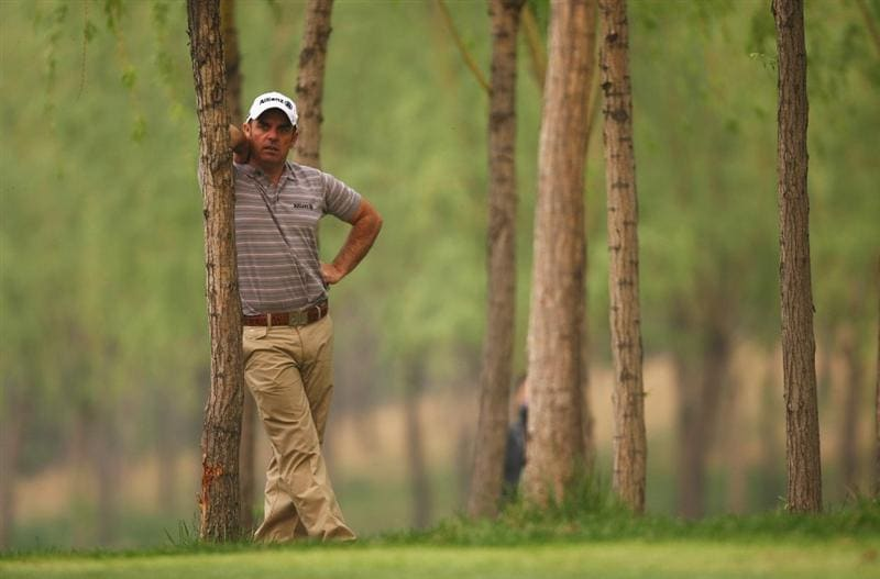 BEIJING - APRIL 18:  Paul McGinley of Ireland looks on during the 3rd round of the Volvo China Open at the Beijing CBD International Golf Club on April 18, 2009 in Beijing, China.  (Photo by Ian Walton/Getty Images)