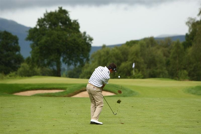 LUSS, SCOTLAND - JULY 12:  Gonzalo Fernandez-Castano of Spain hits his approach to the 4th green during the Final Round of The Barclays Scottish Open at Loch Lomond Golf Club on July 12, 2009 in Luss, Scotland.  (Photo by Richard Heathcote/Getty Images)