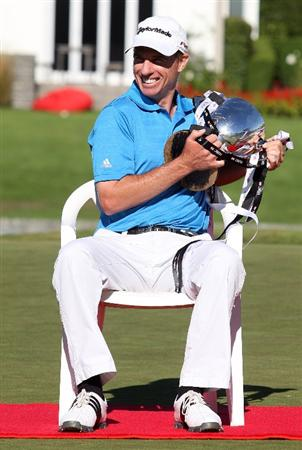 CHRISTCHURCH, NEW ZEALAND - MARCH 08:  Steve Alker of New Zealand holds the Kirkwood Cup after his victory during day four of the New Zealand PGA Championship at the Clearwater Golf Club on March 8, 2009 in Christchurch, New Zealand.  (Photo by Marty Melville/Getty Images)