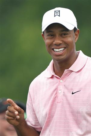 DUBLIN, OH - JUNE 05:  Tiger Woods waits on the first tee during the third round of the Memorial Tournament presented by Morgan Stanley at Muirfield Village Golf Club on June 5, 2010 in Dublin, Ohio.  (Photo by Scott Halleran/Getty Images)