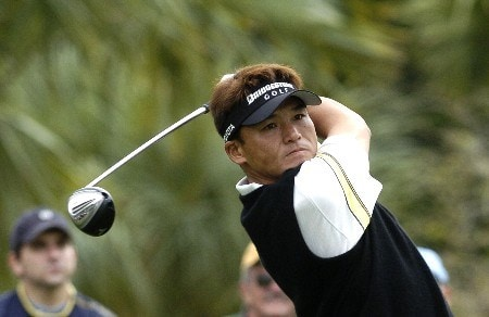 Shigeki Maruyama competes in second-round competition March 4, 2005  at the Ford Championship at Doral in Miami.