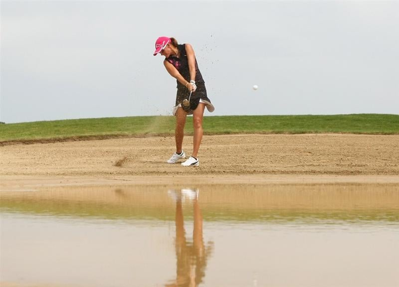MUNICH, GERMANY - MAY 24:  Paula Marti of Spain plays an bunker shot on the 11th hole during the final day of the HypoVereinsbank Ladies German Open 2009 at Gut Haeusern on May 24, 2009 in Munich, Germany.  (Photo by Alexander Hassenstein/Bongarts/Getty Images)