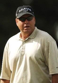 D.A. Weibring waits to tee off on the 11th during the first round of the FedEX Kinko's Classic at the Hills Country Club in Austin, Texas April 29, 2005.Photo by Steve Grayson/WireImage.com