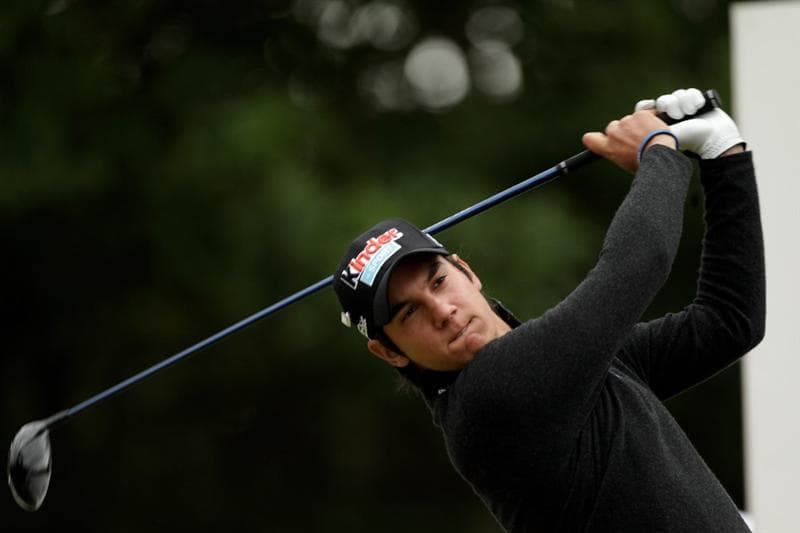 VIRGINIA WATER, ENGLAND - MAY 28:  Matteo Manassero of Italy tees off during the third round of the BMW PGA Championship at the Wentworth Club on May 28, 2011 in Virginia Water, England.  (Photo by Ross Kinnaird/Getty Images)