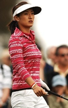 Grace Park in action during the first round of the LPGA's 2005 Kraft Nabisco Championship, at Mission Hills Country Club in Rancho Mirage, California March 24, 2005.