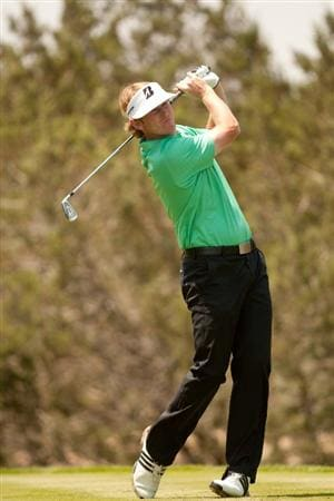 SAN ANTONIO, TX - APRIL 16: Brandt Snedeker follows through on a tee shot during the third round of the Valero Texas Open at the AT&T Oaks Course at TPC San Antonio on April 16, 2011 in San Antonio, Texas. (Photo by Darren Carroll/Getty Images)