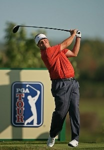 Carl Pettersson hits his tee shot on the 15th hole during the final round of the Turning Stone Resort Championship at Atunyote Golf Club September 23, 2007 in Verona, NY. PGA TOUR - 2007 Turning Stone Resort Championship - Final RoundPhoto by Mike Ehrmann/WireImage.com
