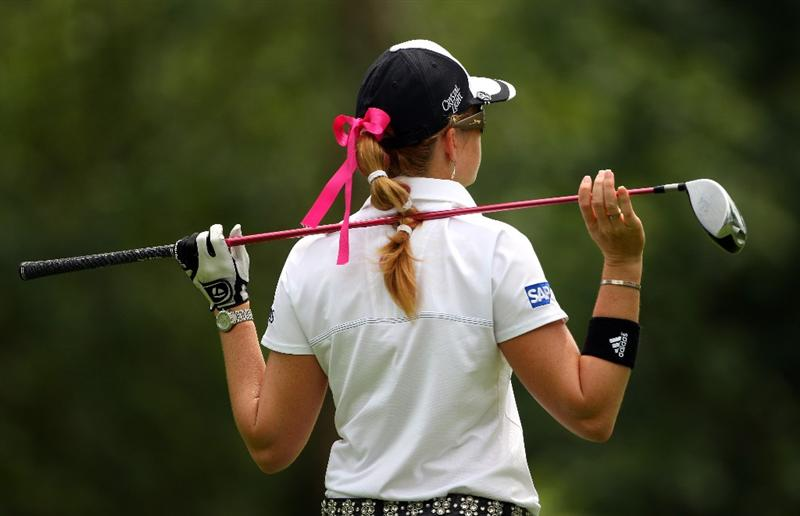 SINGAPORE - MARCH 07:  Paula Creamer of the USA waits to tee off on the sixth hole during the third round of the HSBC Women's Champions at Tanah Merah Country Club on March 7, 2009 in Singapore.  (Photo by Andrew Redington/Getty Images)