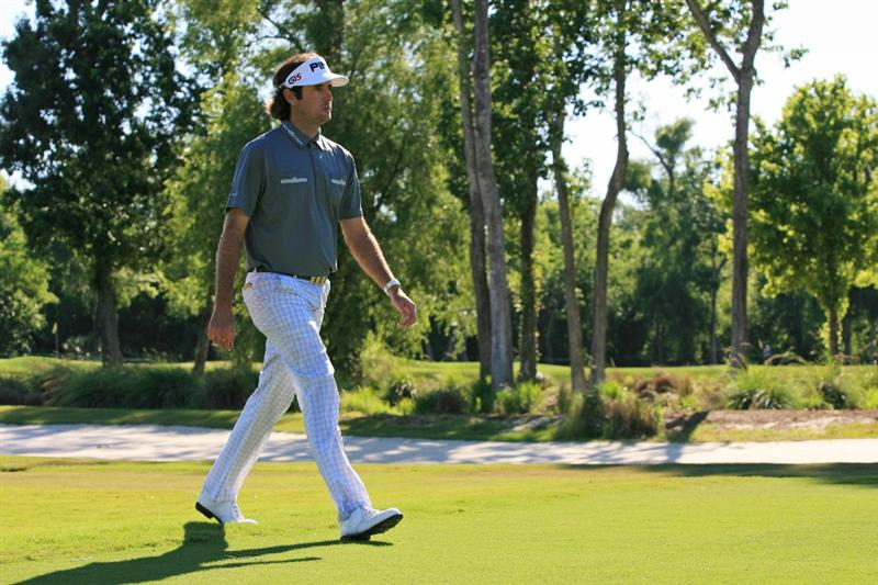 NEW ORLEANS, LA - APRIL 28 : Bubba Watson walks to his ball on the 15th hole during the first round of the Zurich Classic at the TPC Louisiana on April 28, 2011 in New Orleans, Louisiana. (Photo by Hunter Martin/Getty Images)