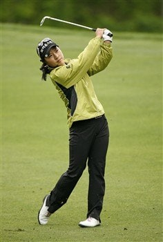 WILLIAMSBURG, VA - MAY 11:  Hee Young Park of Korea hits her second shot on the 8th hole during the final round of the Michelob Ultra Open at Kingsmill Resort & Spa on May 11, 2008 in Williamsburg, Virginia.  (Photo by Hunter Martin/Getty Images)