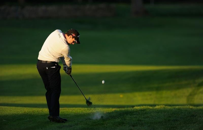 CASTELLON DE LA PLANA, SPAIN - OCTOBER 22:  Oliver Wilson of England plays his approach shot on the 10th hole during the second round of the Castello Masters Costa Azahar at the Club de Campo del Mediterraneo on October 22, 2010 in Castellon de la Plana, Spain.  (Photo by Stuart Franklin/Getty Images)