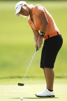 Nicole Perrot in action during the second round of the 2005 U.S.Women's Open at Cherry Hill Country Club in Englewood, Colorado, June 24, 2005.Photo by Steve Grayson/WireImage.com