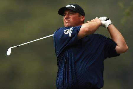Chris Smith hits from the fifth tee during the second round of the 2005 Shell Houston Open, at the Redstone Golf Club in Houston, Texas April 22, 2005.Photo by Steve Grayson/WireImage.com