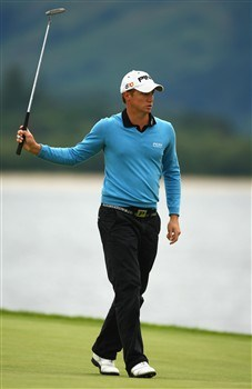 LUSS, UNITED KINGDOM - JULY 11:  Alexander Noren of Sweden reacts to a putt on the 6th green during the Second Round of The Barclays Scottish Open at Loch Lomond Golf Club on July 11, 2008 in Luss, Scotland.  (Photo by Richard Heathcote/Getty Images)