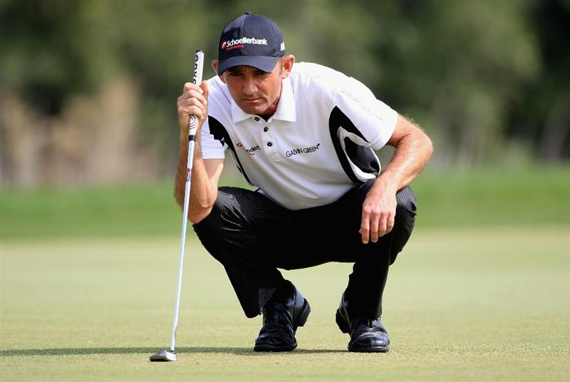 DOHA, QATAR - FEBRUARY 06:  Markus Brier of Austria in action during the final round of the Commercialbank Qatar Masters held at Doha Golf Club on February 6, 2011 in Doha, Qatar.  (Photo by Andrew Redington/Getty Images)