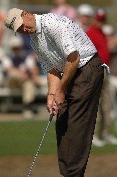 Bob Tway in action during the third round of the PGA's Tour 2005 Chrysler Classic of Tucson at the Omni Tucson National Golf Resort & Spa February 26, 2005 in Tuscon, Arizona.