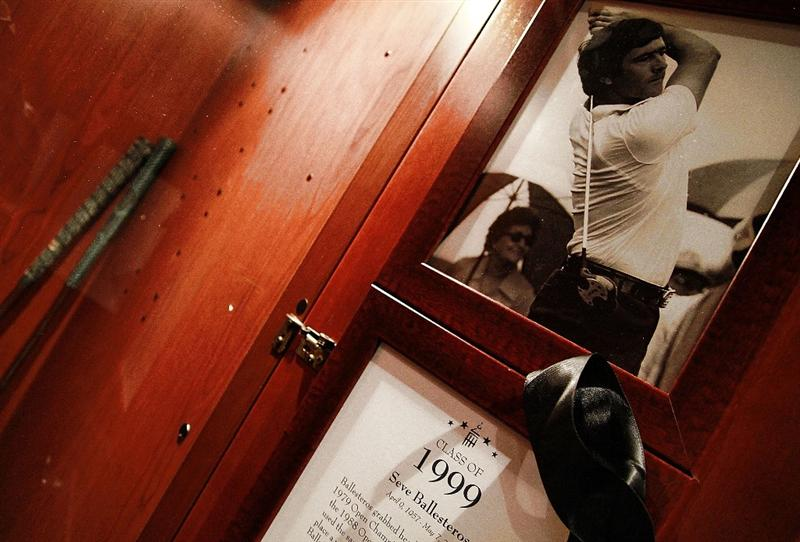 ST AUGUSTINE, FL - MAY 09:  A view of the locker of  PGA Hall of Fame golfer Seve Ballesteros at the World Golf Hall of Fame 2011 Induction Ceremony on May 9, 2011 in St Augustine, Florida.  (Photo by Marc Serota/Getty Images for the World Golf Hall of Fame)