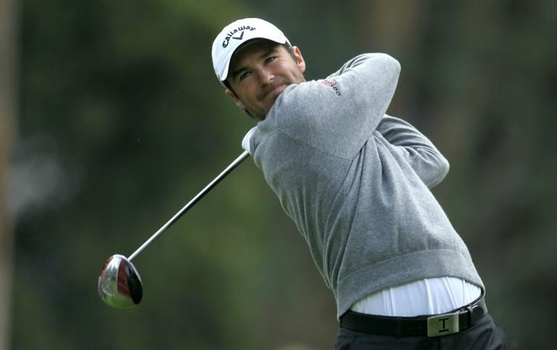PACIFIC PALISADES, CA - FEBRUARY 19:  Trevor Immelman of South Africa hits his tee shot on the ninth hole during round three of the Northern Trust Open at Riviera Country Club on February 19, 2011 in Pacific Palisades, California.  (Photo by Stephen Dunn/Getty Images)