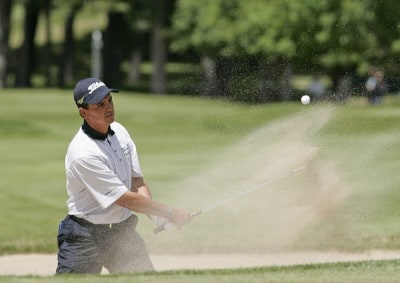 Tom Pernice Jr. hits from a bunker at #3 during the fourth and final round of the Buick Open held at Warwick Hills Golf & Country Club in Grand Blanc, Michigan, on July 1, 2007. Photo by: Chris Condon/PGA TOURPhoto by: Chris Condon/PGA TOUR