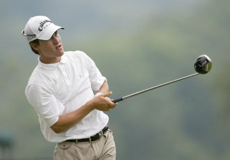 Casey Wittenberg in action during the first round of the 2005 National Mining Association's Pete Dye Classic at Pete Dye Golf Club in Bridgeport, West Virginia on Thursday, July 7, 2005.Photo by Hunter Martin/WireImage.com