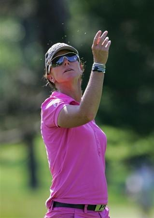 PITTSFORD, NY - JUNE 26: Helen Alfredsson of Sweden during the second round of the Wegmans LPGA at Locust Hill Country Club held on June 26, 2009 in Pittsford, NY. (Photo by Michael Cohen/Getty Images)