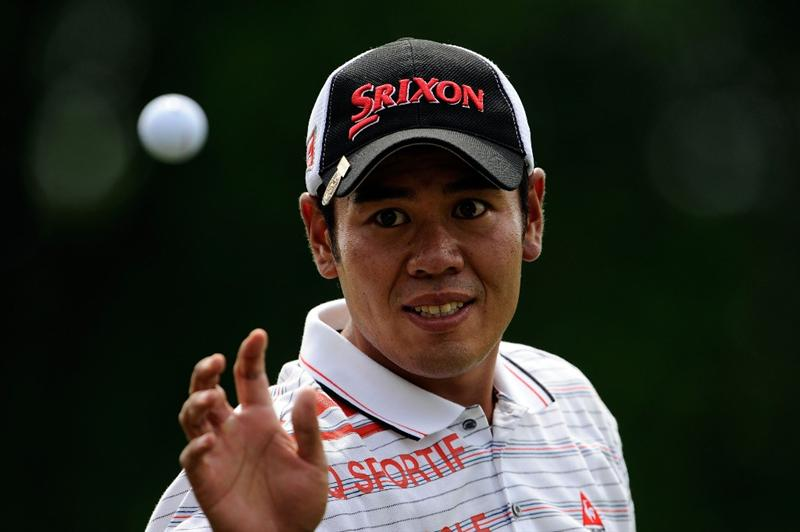 FARMINGDALE, NY - JUNE 17:  Shintaro Kai of Japan waits on the practice ground during the third day of previews to the 109th U.S. Open on the Black Course at Bethpage State Park on June 17, 2009 in Farmingdale, New York.  (Photo by Sam Greenwood/Getty Images)