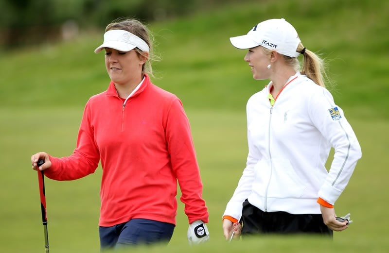 Lauren Taylor and Morgan Pressel