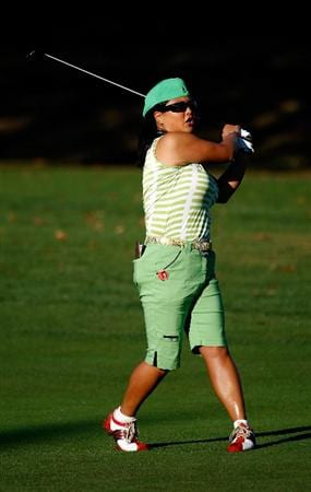 DANVILLE, CA - SEPTEMBER 25:  Christina Kim hits her second shot on the 11th hole during the second round of the CVS/pharmacy LPGA Challenge at Blackhawk Country Club on September 25, 2009 in Danville, California.  (Photo by Jonathan Ferrey/Getty Images)