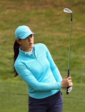 CITY OF INDUSTRY, CA - MARCH 26:  Michelle Wie hits a shot to the fifth green during the third round of the Kia Classic on March 26, 2011 at the Industry Hills Golf Club in the City of Industry, California.  (Photo by Scott Halleran/Getty Images)